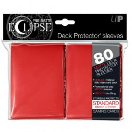 Pro Matte Eclipse Red Standard Sleeves 80ct