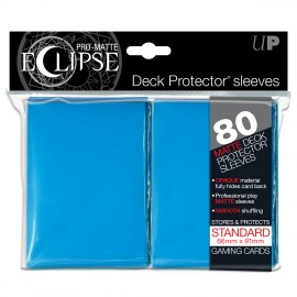 Pro Matte Eclipse Light Blue Standard Sleeves 80ct