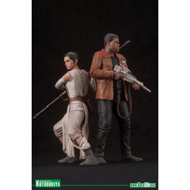 Star Wars - Rey & Finn 2 pack Pre-Painted statue