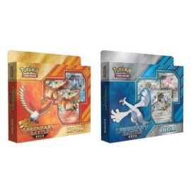 Pokémon Legendary Battle decks Ho-Oh and Lugia display (6p)
