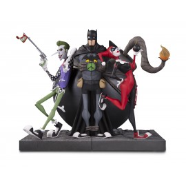 DC - Batman - Bookend Joker & Harley Quin DLX PVC Figure