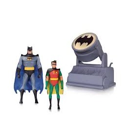 DC - Batman Animated Series - Batman & Robin with Batsignal (15cm)
