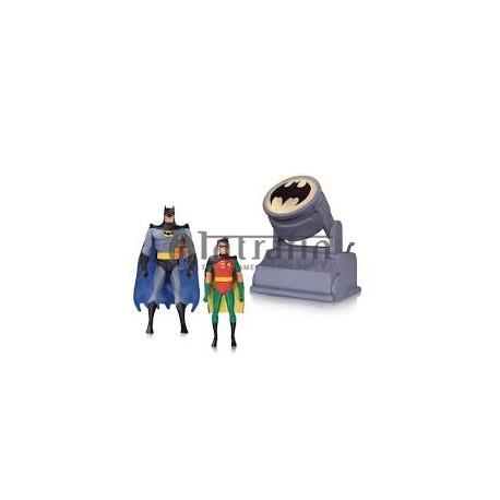 DC - Batman Animated Series - Batman & Robin with Batsignal (15cm)