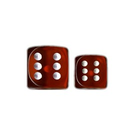 Translucent 12mm d6 with pips Dice Blocks™- Orange w/white (36 Dice)