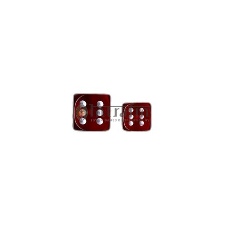 Translucent 12mm d6 with pips Dice Blocks™- Red w/white (36 Dice)