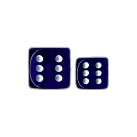 Translucent 12mm d6 with pips Dice Blocks™- Blue w/white (36 Dice)