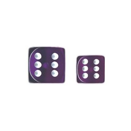 Translucent 12mm d6 with pips Dice Blocks™- Purple w/white (36 Dice)