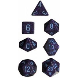 Speckled Polyhedral d10 Sets (10) - Cobalt