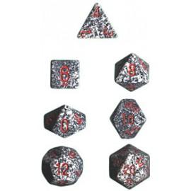 Speckled Polyhedral d10 Sets (10) - Granite