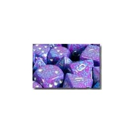 Speckled Polyhedral d10 Sets (10) - Silver Tetra