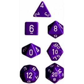 Opaque Polyhedral 7-Die Sets - Purple w/white