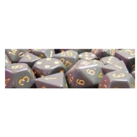 Opaque Polyhedral 7-Die Sets - Dark Grey w/copper