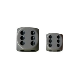 Opaque 12mm d6 with pips Dice Blocks (36 Dice) - Grey w/black