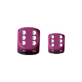 Opaque 12mm d6 with pips Dice Blocks (36 Dice) - Light Purple w/white