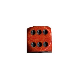 Speckled 12mm d6 with pips Dice Blocks (36 Dice) - Fire