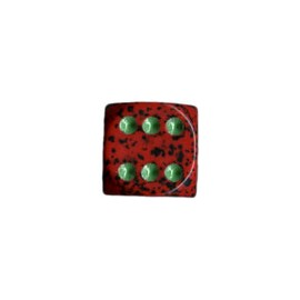 Speckled 12mm d6 with pips Dice Blocks (36 Dice) - Strawberry