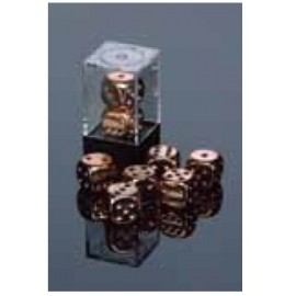 Copper-Plated Metallic 16mm d6 with pips Pair (2)