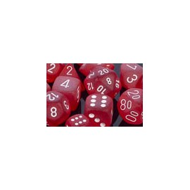 Polyhedral 7-Die Sets - Frosted Polyhedral Red/white