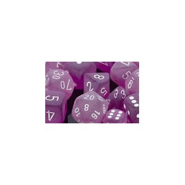 Polyhedral 7-Die Sets - Frosted Polyhedral Purple/white