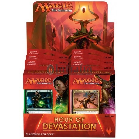 MTG Hour of Devastation Planeswalker Deck Display (6) English