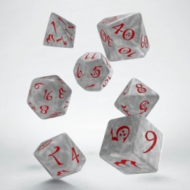 Classic RPG Pearl & Red Dice Set(7)