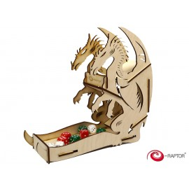E-Raptor Dice Tower Dragon Wooden