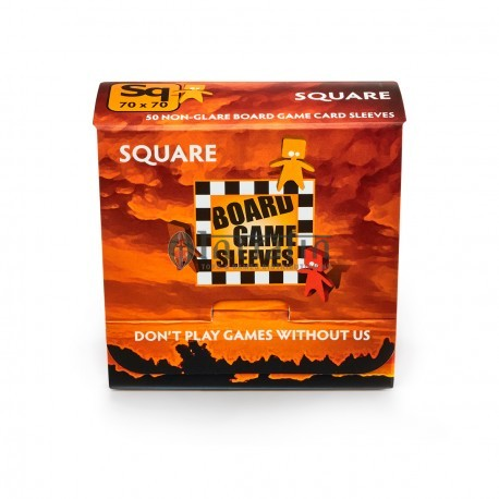 Board Game Sleeves - Square (fits cards of 69x69mm) (10p)