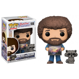 Television 558 POP - Bob Ross - Bob Ross & Raccoon