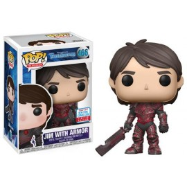 Television 485 POP - Stone Trollhunters - Jim Red Armor NYCC 2017 EXC No sticker